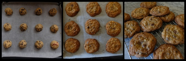 Chocolate chip cookies - baking