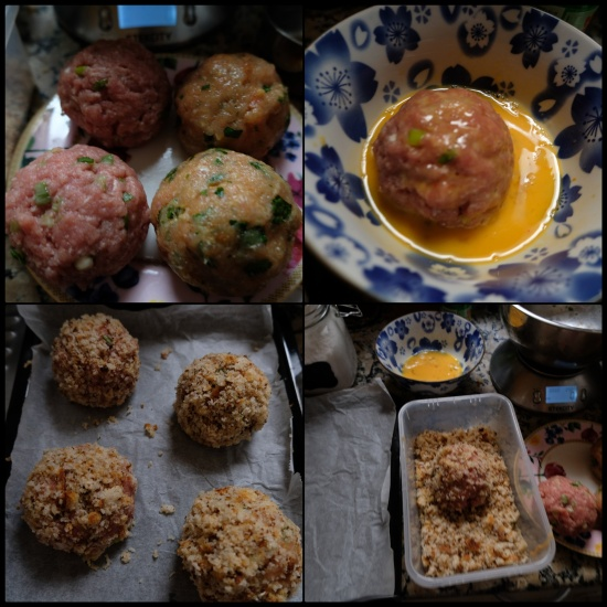 Making scotch eggs 2