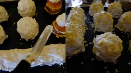 Brioche polonaise - Italian meringue