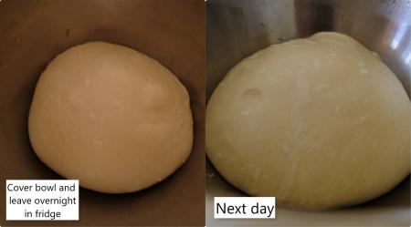 Sourdough brioche dough overnight fridge fermentation