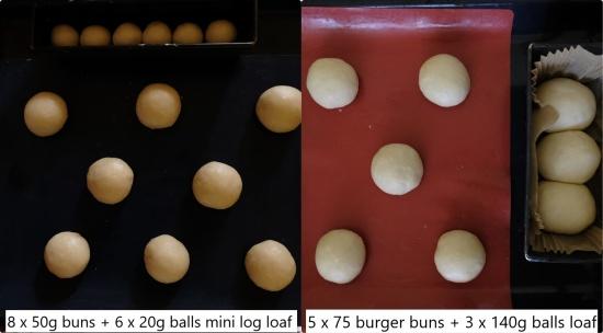 Sourdough brioche shapes for final proof