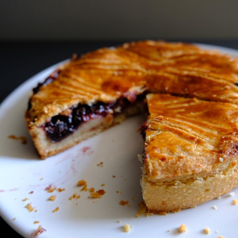Blackcurrant Gâteau Basque