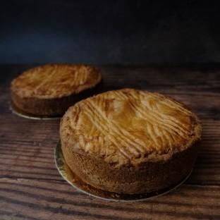 Mandarin and black cherry Gâteaux Basques