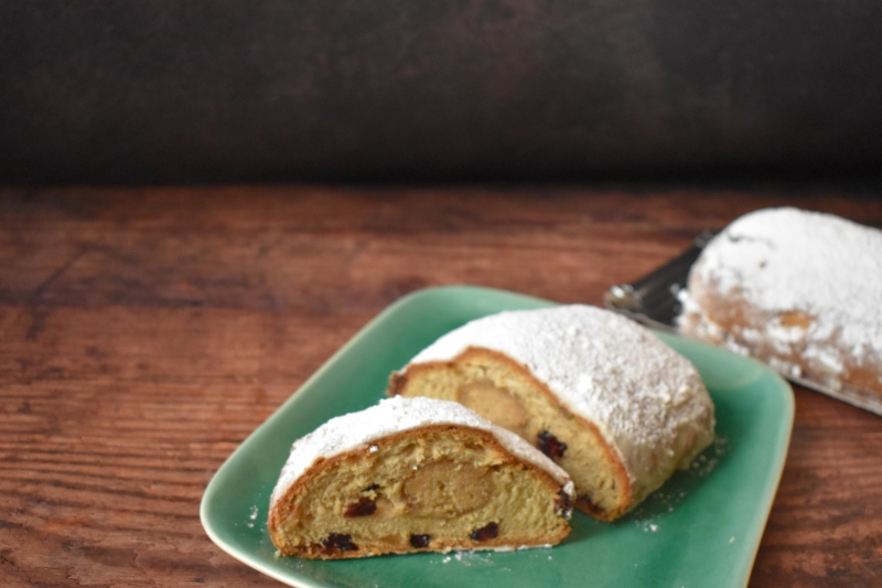 Sourdough cranberry and ginger stollen