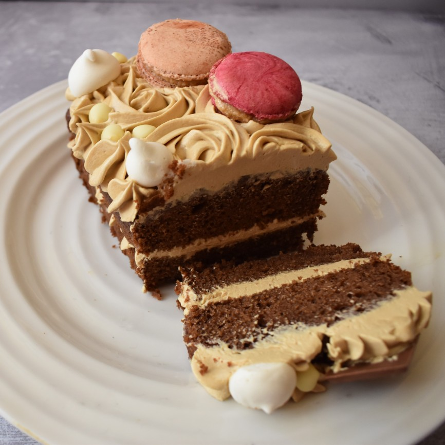 Dulce de leche chocolate cake with dulce de leche buttercream