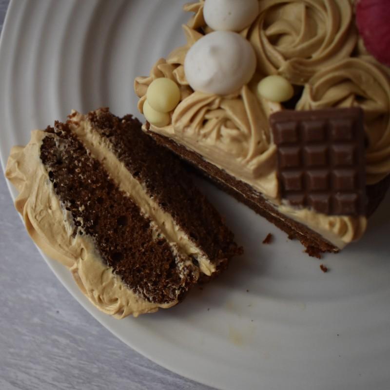 Dulce de leche chocolate cake, gluten free