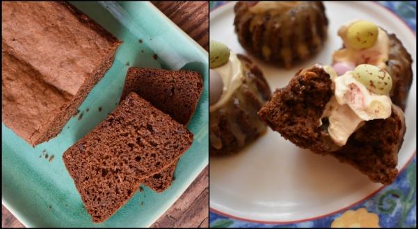 Dulce de leche chocolate cakes