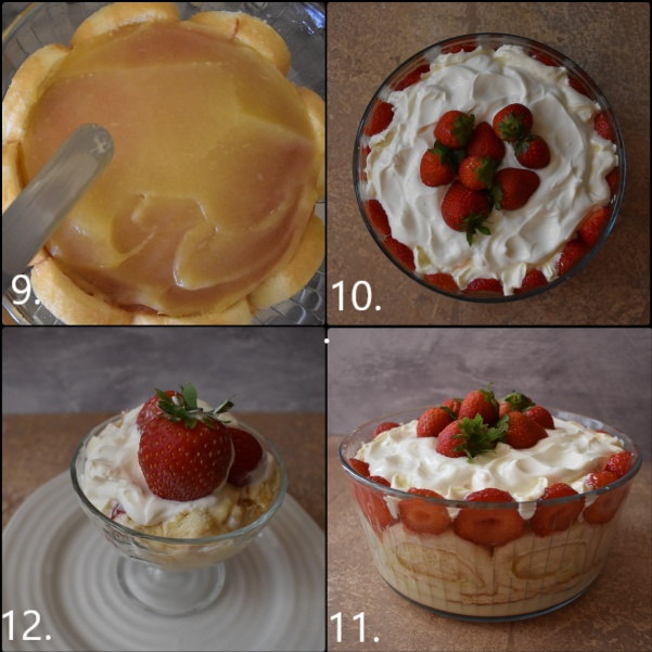 Lime-oncello Strawberry trifle - assembling 3