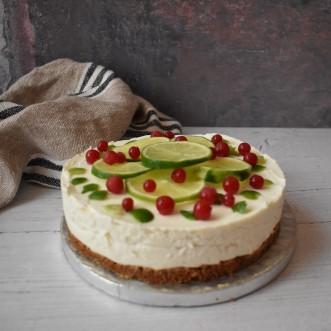 Lime goats cheesecake