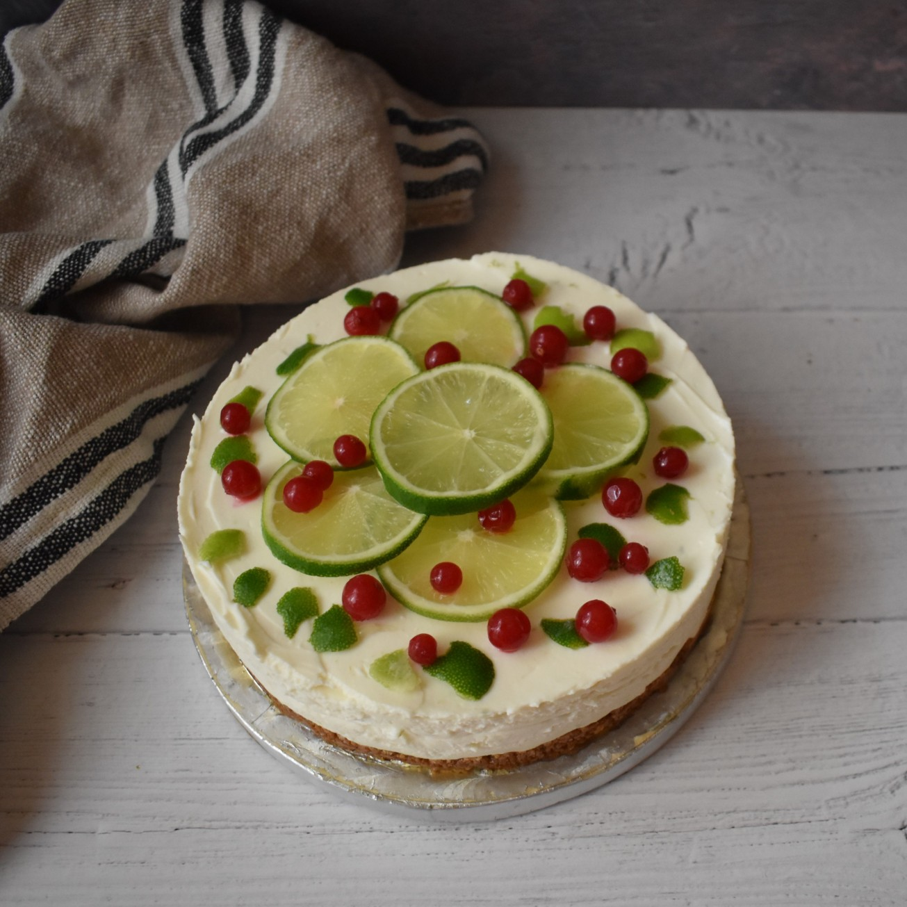 Lime goats cheesecake
