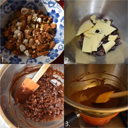 Chocolate salami - making, 1