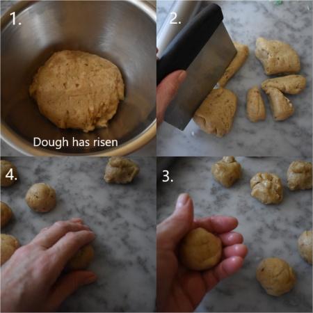 Making fougasse monégasque, 3
