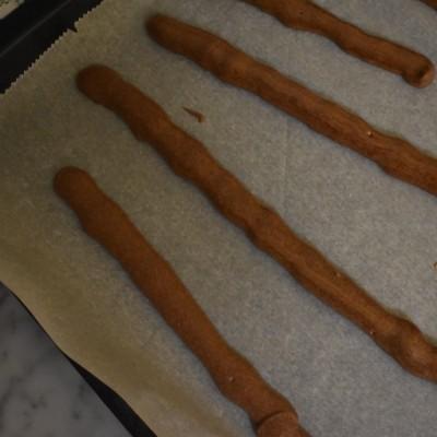 strips of muscadines ganache