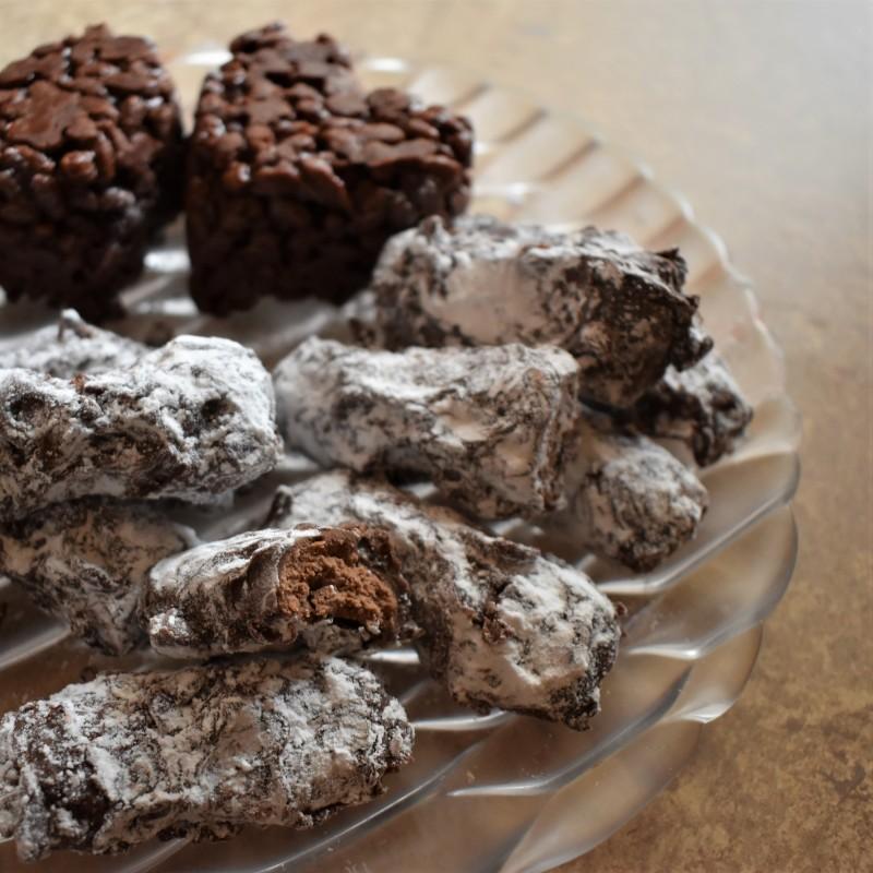 Muscadines, French milk chocolate truffles