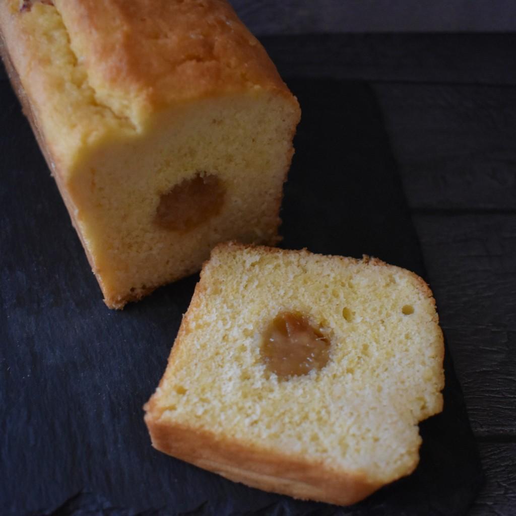 Holey Moley lemon surprise cake with lemon marmalade insert
