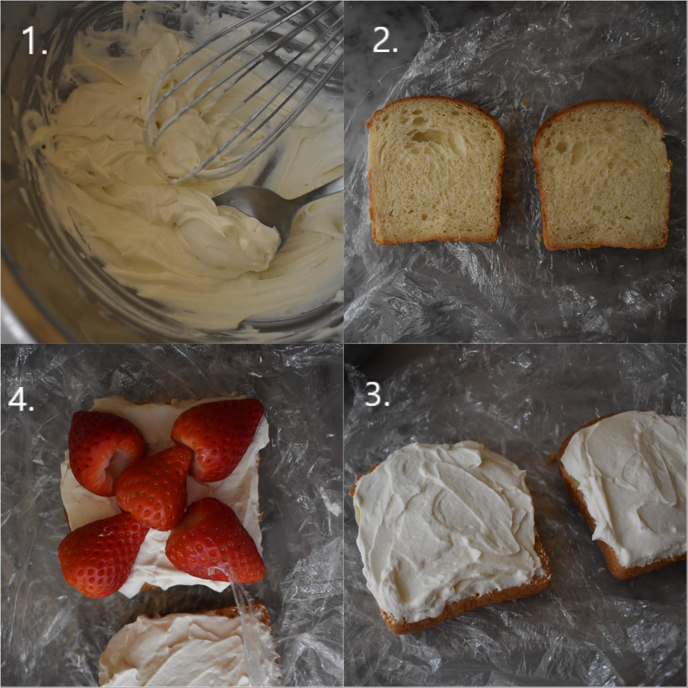 Strawberry Sando recipe, making part 1
