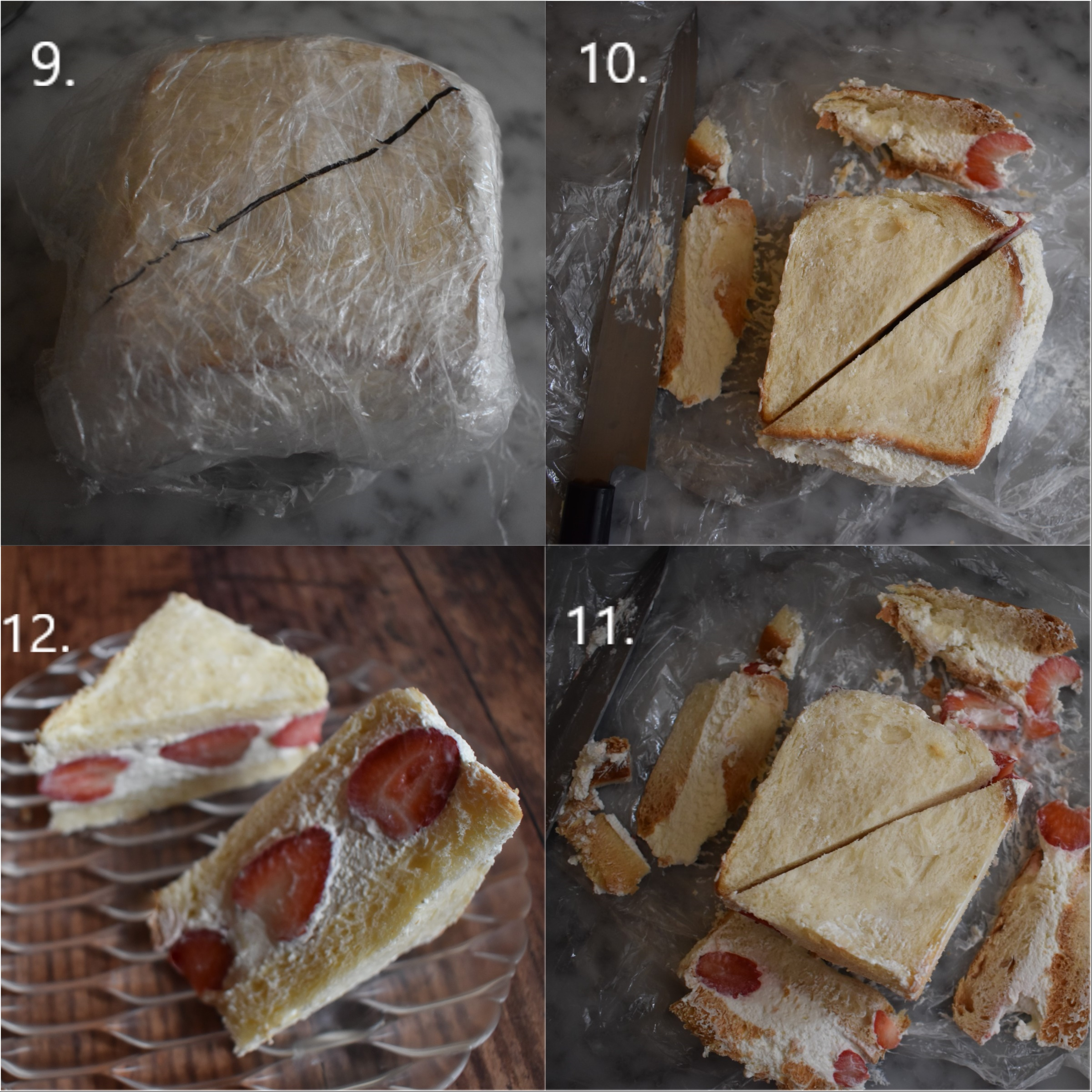 Strawberry Sando recipe, making part 3