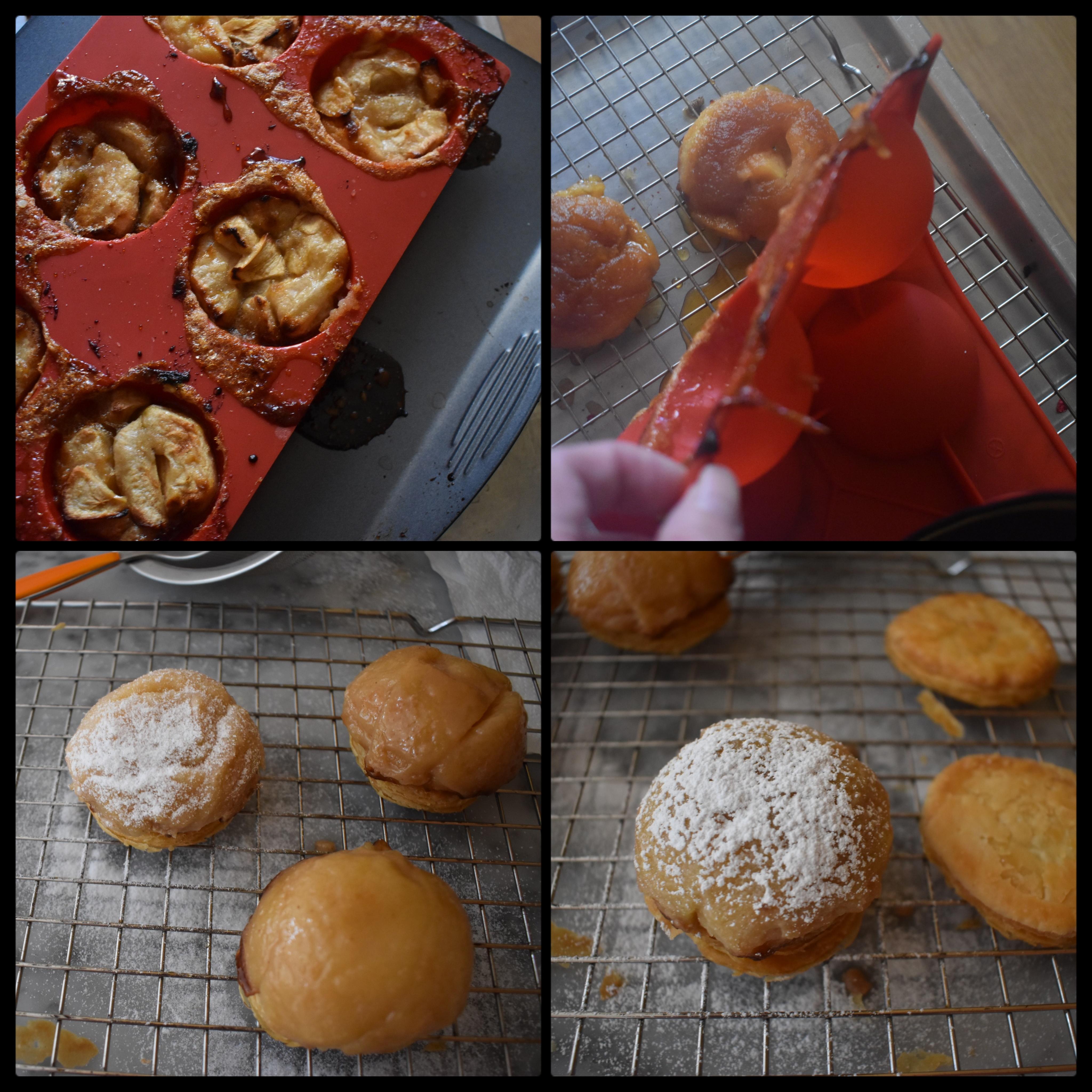Tarte tatin apple domes 2, unmoulding
